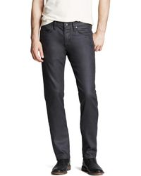 John Varvatos John Varvatos Usa Jeans Bowery Slim Straight Fit Jeans In Graphite - Gray