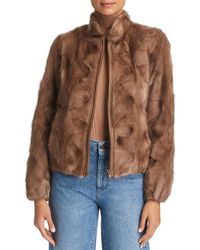 Maximilian Mink Fur Jacket - Brown