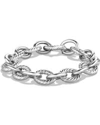 David Yurman Sterling Silver Chain Link Bracelet - Metallic