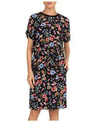 Gerard Darel Stacy Floral Print Sheath Dress - Black