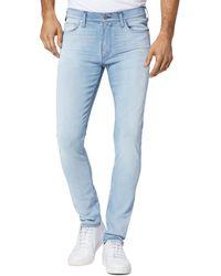 PAIGE Croft Skinny Fit Jeans In Kace - Blue