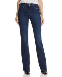 PAIGE Manhattan High Rise Bootcut Jeans In Pompeii - Blue