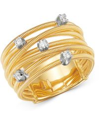 Marco Bicego 18k Yellow Gold Bi49 Diamond Multi - Row Band - Metallic