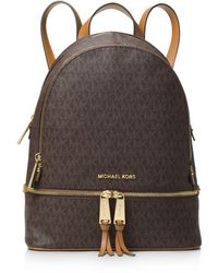 Michael Kors Rhea Zip Md Backpack Vanilla - White