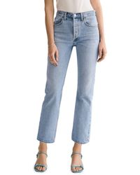 Agolde Ripley Cotton High - Rise Straight Jeans In Riptide - Blue