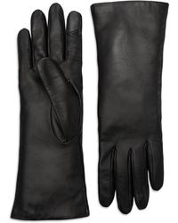 Theory Leather Tech Gloves - Black