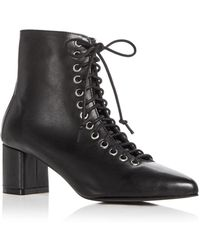 Archive - Women's Jane Leather Block Heel Booties - Lyst