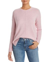 C By Bloomingdale's High/low Cashmere Crewneck Jumper - Pink