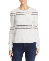 French Connection - Skye Cotton Contrast-trim Sweater - Lyst