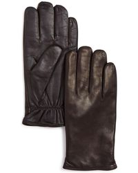 Bloomingdale's The Store At Bloomingdale's Cashmere Lined Basic Tech Gloves - Brown