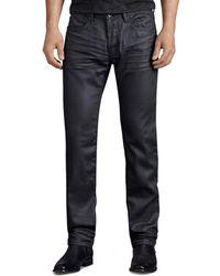 John Varvatos John Varvatos Usa Jeans Bowery Slim Straight Fit Jeans In Graphite - Grey
