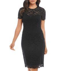 Karen Kane Paris Lace Dress - Black