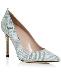 SJP by Sarah Jessica Parker Women's Fawn Pointed Toe Court Shoes - White