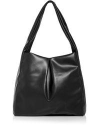 Aqua Large Hobo Bag - Black