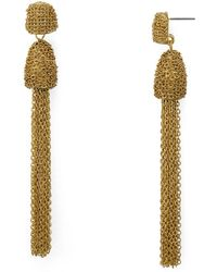 Aqua - Tassel Drop Earrings - Lyst