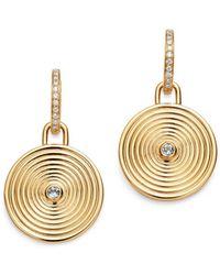 Kiki McDonough - 18k Yellow Gold Fantasy Blue Topaz & Diamond Large Drop Earrings - Lyst