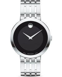 Movado 39mm Esperanza Watch, Silver - Metallic