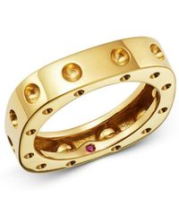 Roberto Coin - 18k Yellow Gold Pois Moi Square Ring - Lyst