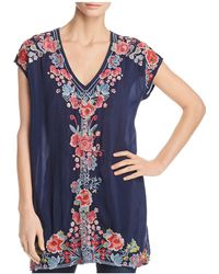 Johnny Was - Pari Embroidered Tunic Top - Lyst