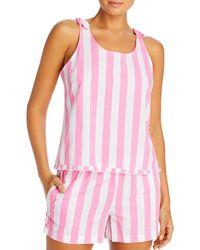 Jane And Bleecker Striped Tank & Shorts Pajama Set - Pink