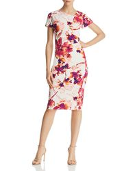 Donna Karan - New York Watercolor Floral Dress - Lyst