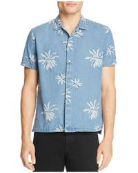 Barney Cools - Fern-print Regular Fit Button-down Shirt - Lyst