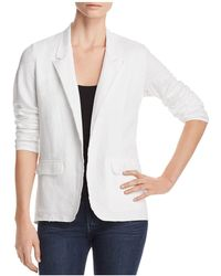 Majestic Filatures - Linen Unfinished Open Blazer - Lyst