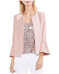 Vince Camuto - Bell Sleeve Open Front Jacket - Lyst