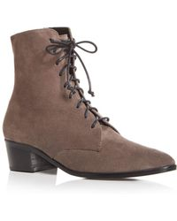 Archive - Women's Barrow Suede Pointed Toe Low Heel Booties - Lyst