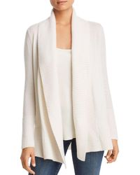 C By Bloomingdale's Shawl - Collar Cashmere Cardigan - White
