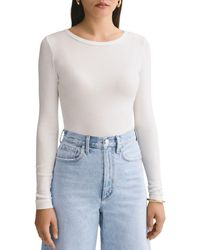 Agolde Leila Ribbed Bodysuit - White