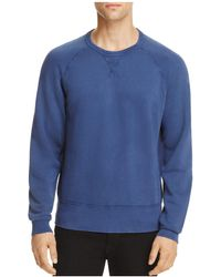 7 For All Mankind - Reverse Terry Side Panel Sweatshirt - Lyst