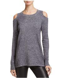 Aqua | Cashmere Circle Arm Cutout Sweater | Lyst