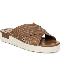 b9c8402b97b Vince - Women s Camden Leather Platform Slide Sandals - Lyst