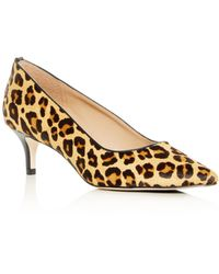 e8170749299b Joan Oloff - Women s Callie Leopard Print Calf Hair Kitten-heel Pumps - Lyst