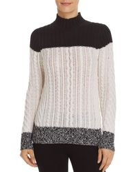 C By Bloomingdale's - Mixed Knit Colour - Block Cashmere Jumper - Lyst