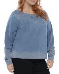 Billy T Plus Stardust Embroidered Sweatshirt - Blue