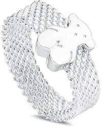 Tous - Sterling Silver Mesh Bear Ring - Lyst