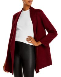 Theory Clairene Shawl Coat - Red