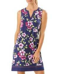 Tommy Bahama Kalahari Blooms Shift Dress - Blue