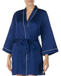 Kate Spade - Cat Nap Charmeuse Short Wrap Robe - Lyst
