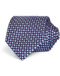 Bloomingdale's Multi Dot Silk Classic Tie - Blue