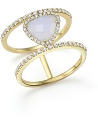 Meira T 14k Yellow Gold And Blue Lace Chalcedony Ring