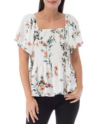 B Collection By Bobeau Rylan Smocked Blouse - Multicolor