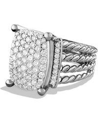 David Yurman Wheaton Ring With Diamonds - Metallic