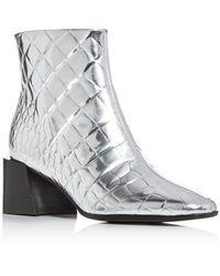 Sigerson Morrison Women's Mandel Block - Heel Booties - Metallic