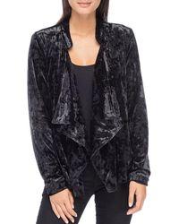 B Collection By Bobeau - Magda Crushed Velvet Drape Jacket - Lyst