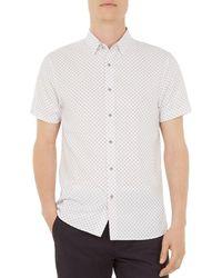 Ted Baker - Shorpol Polynosic Regular Fit Button-down Shirt - Lyst