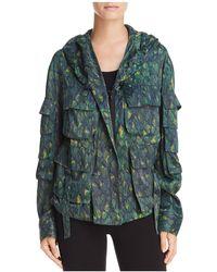 Donna Karan - Hooded Multi-pocket Lightweight Jacket - Lyst