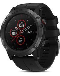 Garmin 5 Plus Fenix Silicone-strap Watch - Black